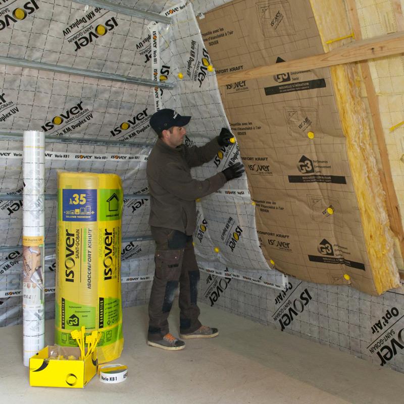 membrane d 39 tanch it l 39 air vario duplex isover les. Black Bedroom Furniture Sets. Home Design Ideas
